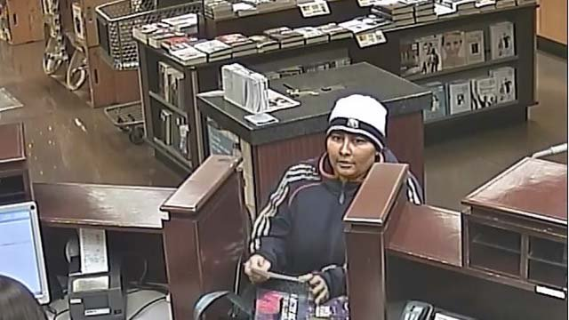 Surveillance still of a woman who robbed a Henderson bank on Oct. 20, 2016. (Source: Henderson Police Dept.)