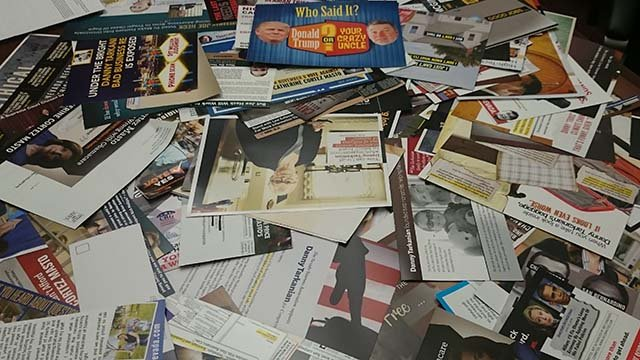 Campaign mail collected by FOX5 staff members over a period of a few days. (Source: FOX5)