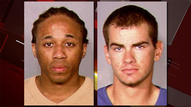 Michael Solid, left, and Jacob Dismont, right, seen in booking photos on 2013. (Source: LVMPD)