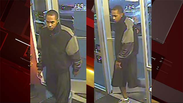 Surveillance stills of a man who robbed an east Las Vegas business on Oct. 24, 2016. (Source: LVMPD)