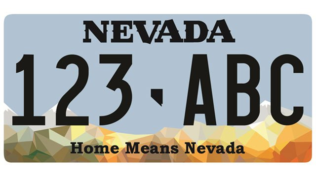 Nevada DMV released the states new standard issued license plate for 2017.