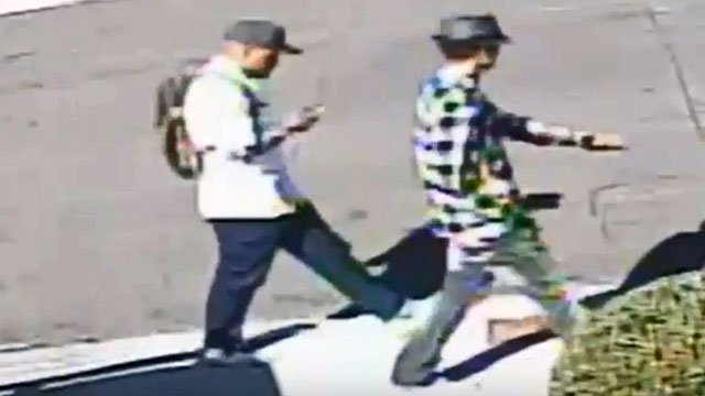 Police released images of two men tied to a home-invasion homicide that took place on Nov. 5, 2016. (LVMPD)