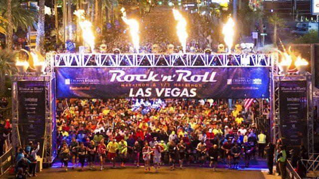 Thousands of runners wait for the start of the Las Vegas Rock 'N' Roll Marathon in this undated photo. (Courtesy: Ryan Bethke)