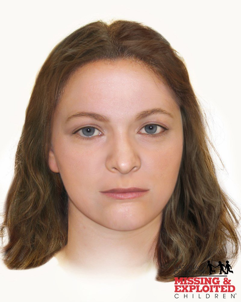 A composite photo shows an approximation of Jane Arroyo Grande Doe's face at the time of her death. (Source: National Center for Missing and Exploited Children)