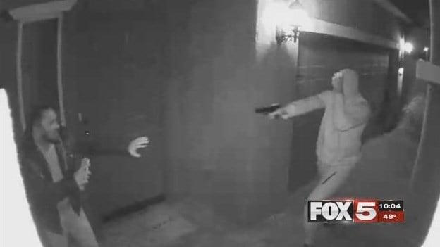 Surveillance video captured a violent robbery in November. (Source: Brett Palmer)