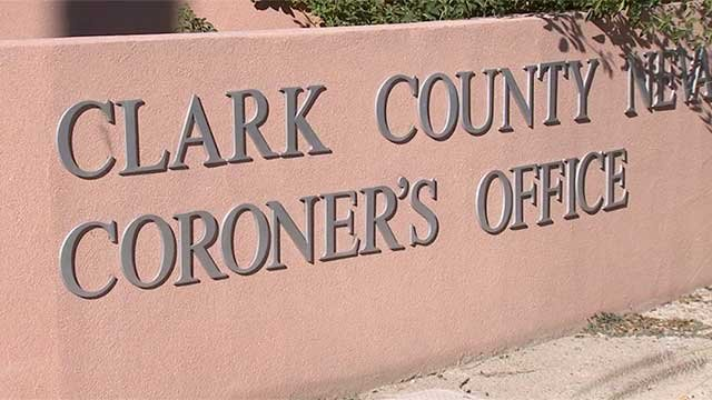 The sign outside of the office of the Clark County Coroner is shown in an undated image. (File)