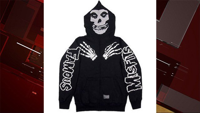 Police also released images of a hooded sweatshirt that Median was last seen wearing. (Source: LVMPD)