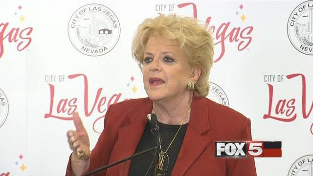 Las Vegas Mayor Caroyln Goodman appears in a post-State of the City news conference on Jan. 12, 2017. (FOX5)