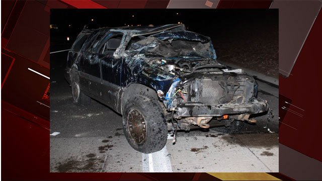 A female driver was killed in a rollover crash on Jan. 14, 2017. (Source: NHP)