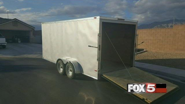 A photo of the trailer that was stolen in North Las Vegas on Jan. 17, 2017. (FOX5)