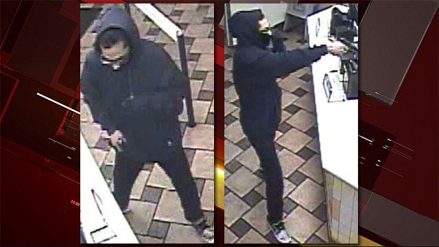 Police said the robber opened fire twice over his crime spree. (LVMPD)