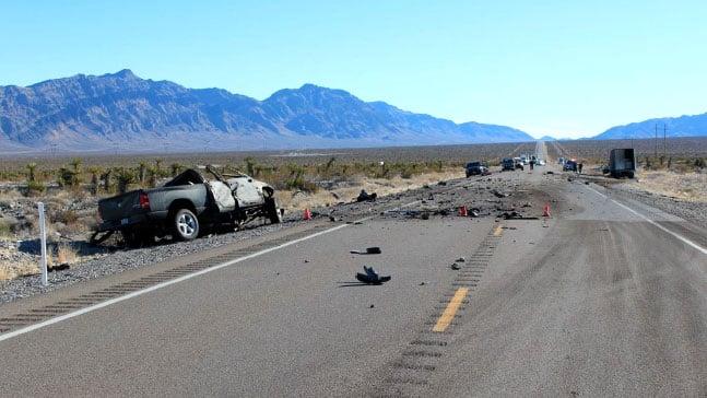Nevada Highway Patrol is investigating a fatal crash on U.S. 93 on Jan. 16, 2016. (Source: NHP)