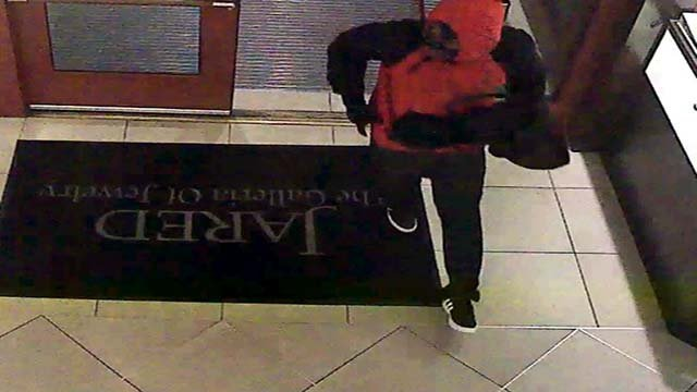 Surveillance footage photo released of Jared Jewelers attempted robbery suspect on Jan. 21, 2017. (Courtesy: Henderson Police Department)