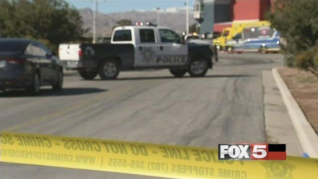 Las Vegas Metro police responded to reports of a naked man with a knife at the Gold Strike hotel-casino on Jan. 21, 2017. (FOX5)