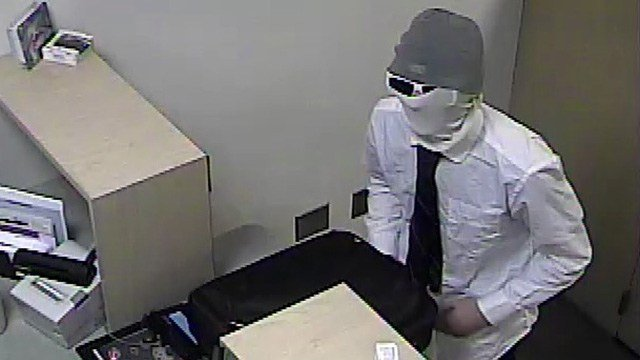 Police said one of the robbers demanded money from workers at Silver State Schools Credit Union on Jan. 24, 2017. (Source: Henderson PD)
