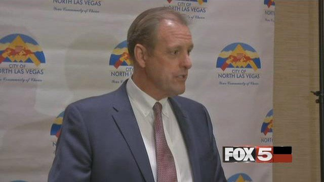 """North Las Vegas Mayor John Lee addressed the growth of the city in his """"State of the City"""" address on Jan. 26, 2017. (FOX5)"""