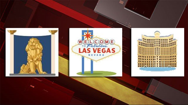MGM Resorts launched Las Vegas-themed emojis for Andriod and iOS users. (Source: MGM Resorts International)