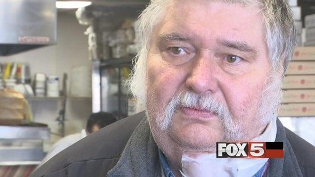 Pizza delivery man survives gunshot.