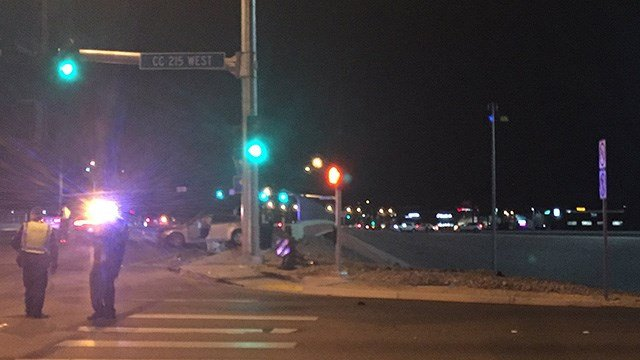 Nevada Highway Patrol shut down the area of Aliante Parkway and the Northern 215 Beltway after a deadly crash on Feb. 2, 2017. (Miguel Martinez-Valle/FOX5)