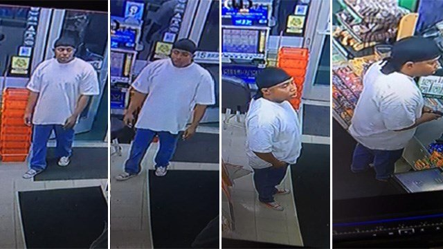 Police released images of the person they believe held up a convenience store in the 4800 block of West Washington Avenue on Feb. 2, 2017. (LVMPD)