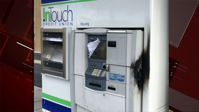 Thieves attempted to steal or break into an ATM at In Touch Credit Union. (Gai Phanalasy/FOX5)