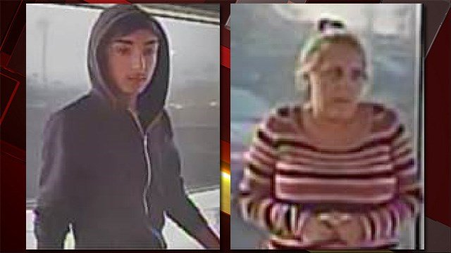 Police released images of a man and a woman who are believed to have taken part in scam targeting the elderly. (Source: LVMPD)