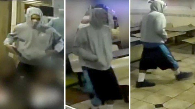 Police also released surveillance video footage of the robbery suspect in the Jan. 11, 2017 incident.  (Source: LVMPD)