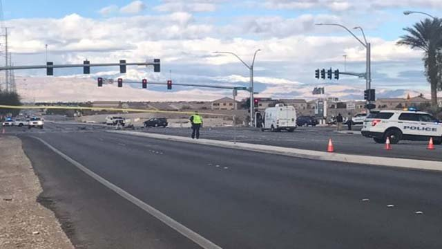 North Las Vegas at the scene of a fatal crash on Feb. 12, 2017. (Cherney Amhara/FOX5)