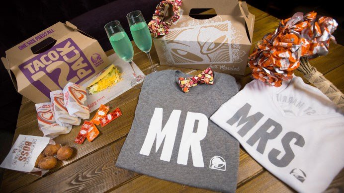 Taco Bell will offer a wedding package at the Las Vegas cantina starting in the summer of 2017. (Source: Taco Bell)