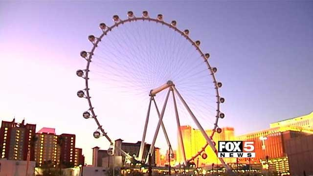 The High Roller observation wheel on the Las Vegas Strip is shown in an undated image. (FOX5)