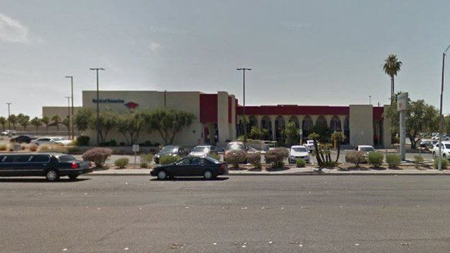A Google Maps image shows an undated image of the Bank of America located in the 4700 block of Maryland Parkway. (Source: Google Maps)