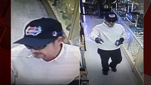 LVMPD are searching for this armed robber. (FOX5)
