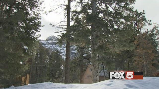 Kyle Canyon residents were narrowly blanketed by an avalanche over the weekend. (FOX5)
