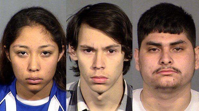 From left to right, Brenda Garcia, Michael Trieb and Joseph Sanchez. (Source: LVMPD)