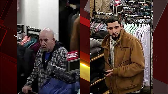 Police released images of two men suspected of robbing a retail store on Jan. 22, 2017. (LVMPD)