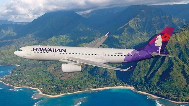Hawaiian's wide-body, twin-aisle Airbus A330-200 aircraft seats 294 passengers. (PRNewsFoto/Hawaiian Airlines)