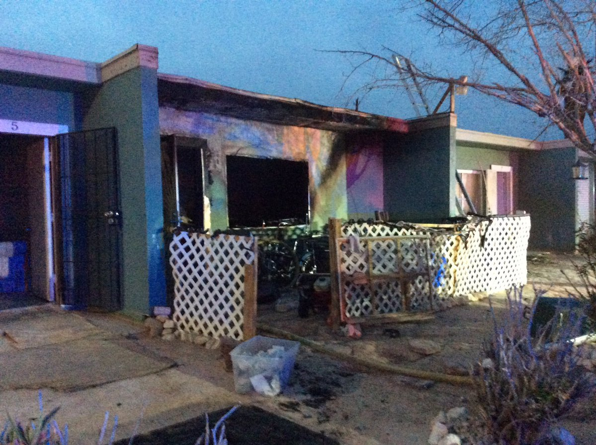 A fire killed two dogs on Charleston Boulevard.