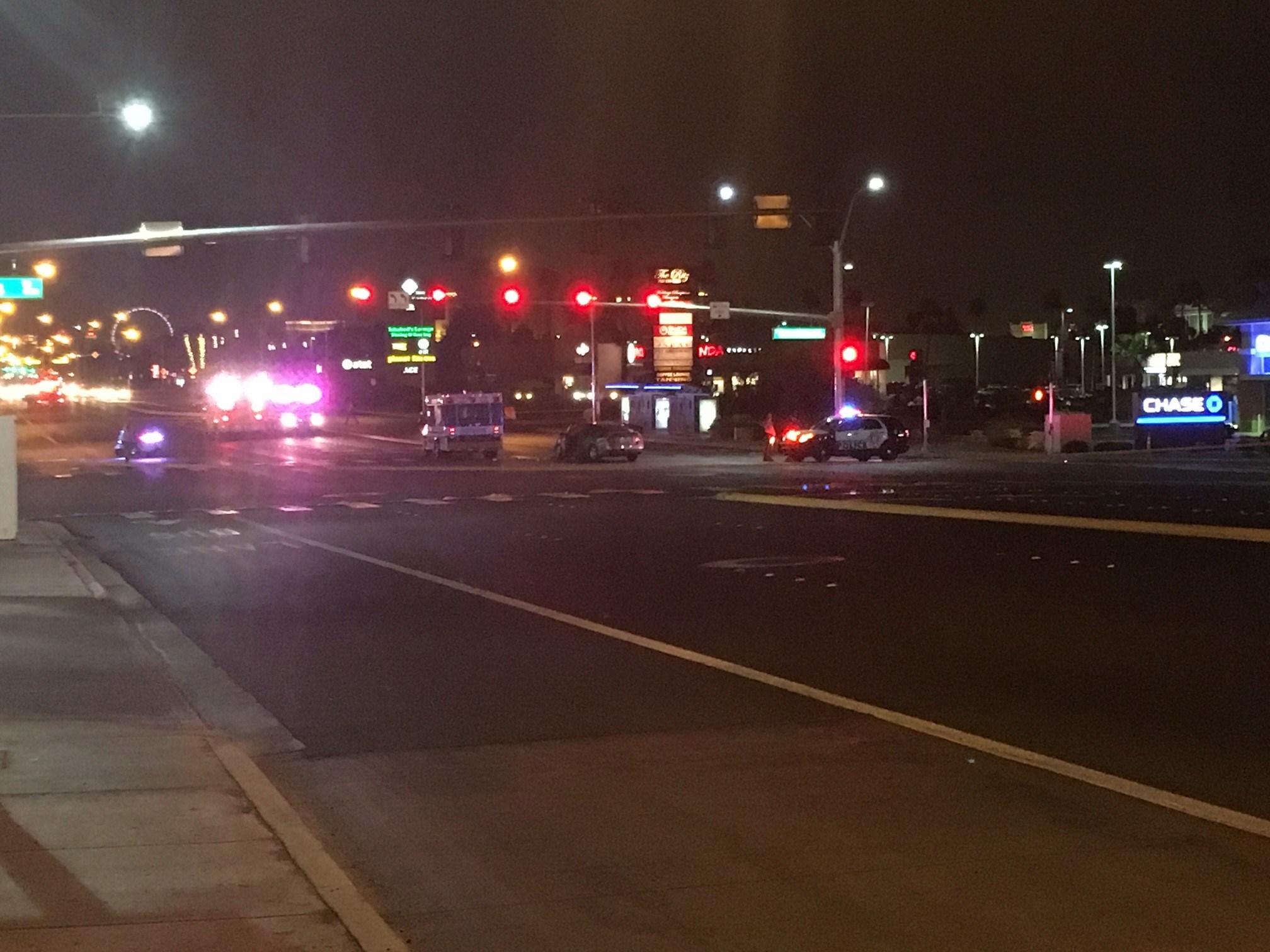 An ambulance crash killed one on Flamingo and Pecos Roads Friday.