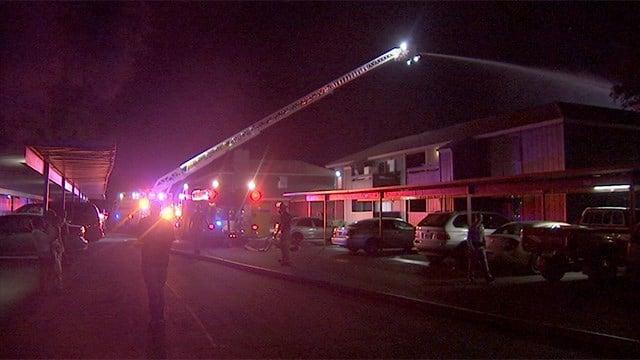 Firefighters battled an apartment fire on Mar. 16, 2017 on Karen Avenue.