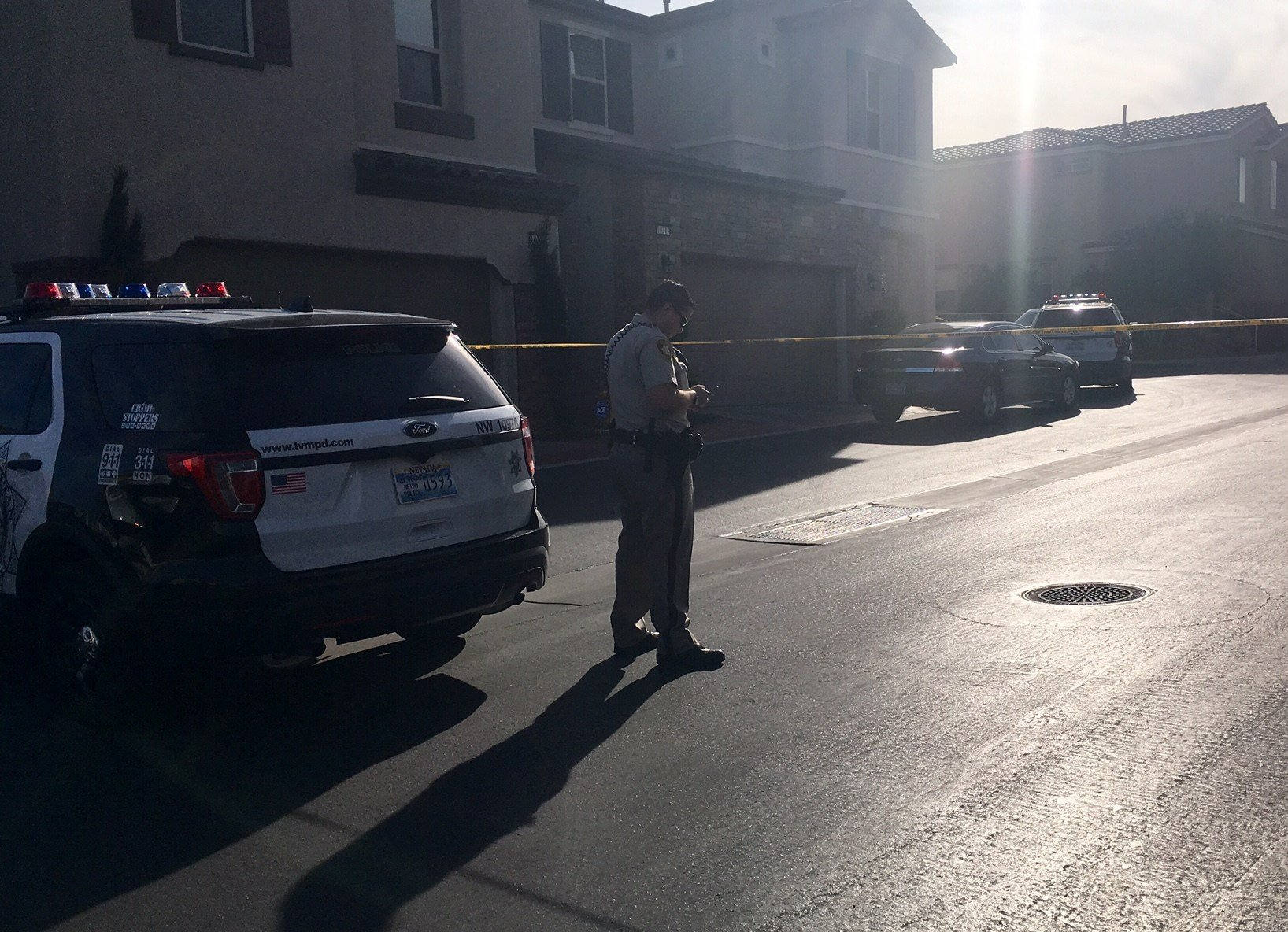Las Vegas Metro Police said one man shot another at the 10200 block of Yarmouth Sea Court Friday.