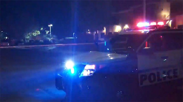 Police at the scene of a shooting in a NW las Vegas neighborhood on March 26, 2017, (Cherney Amhara/FOX5)