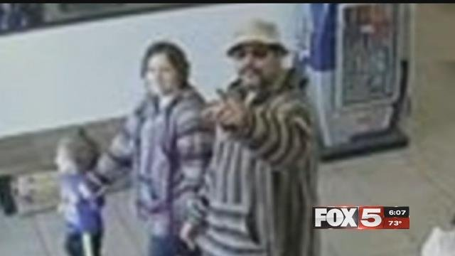 Thieves are seen on camera stealing a veteran's bag at his workplace.