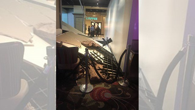 MGM Resorts confirmed a construction wall collapse on March 30, 2017. (FOX5 Las Vegas viewer)