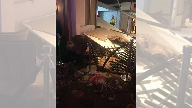 The collapse was wind related, MGM confirmed. (FOX5 Las Vegas viewer)