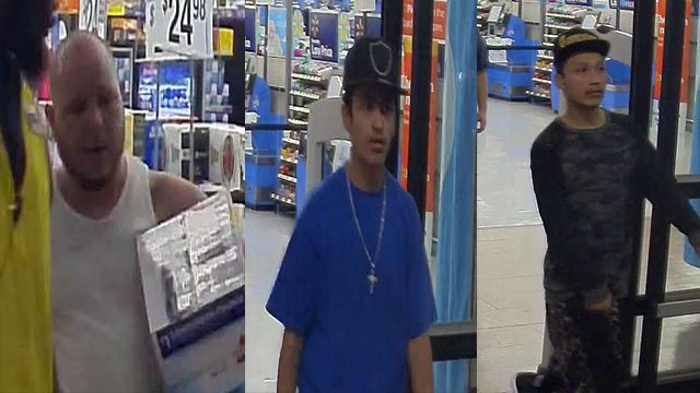 A photo shows camera stills of the armed robbers (FOX5).