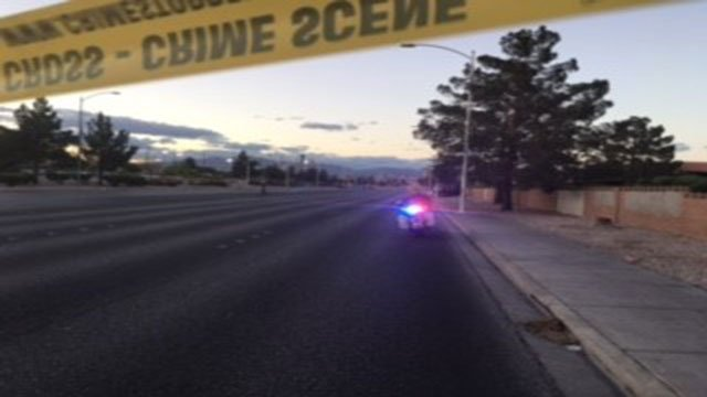 Police shut down both directions of Pecos Road after fatal crash (Austin Turner/FOX5).