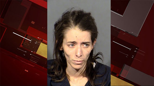 A booking photo of Lisa Hollopeter who is suspected of shooting her boyfriend (LVMPD/FOX5).