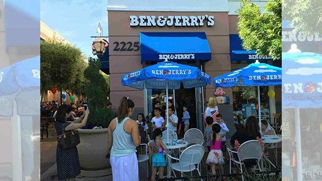 The Ben & Jerry's Scoop Shop at the District at Green Valley Ranch is shown during an undated Free Cone Day.