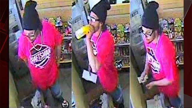 Police released surveillance images of a man suspected of burglarizing an elderly man's home. (LVMPD)