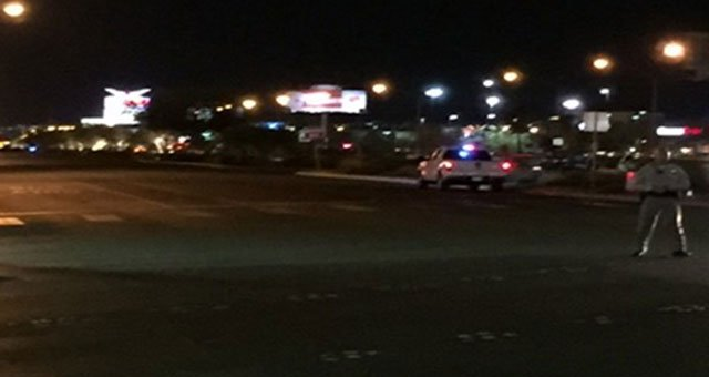 Metro police investigate a second auto vs. pedestrian crash in the south east Valley (Adam Herbets/FOX5).